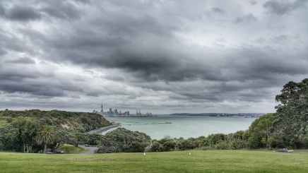 Stormy Auckland from Bastion Point