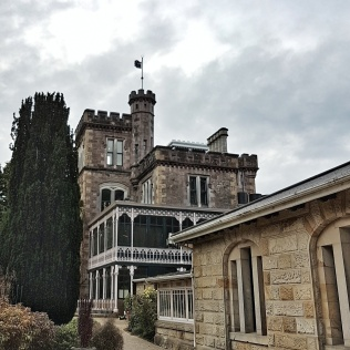 Larnach Castle on a winter's day