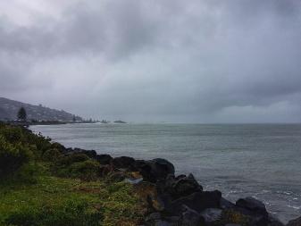 Stormy Sumner coastline