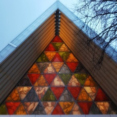 Chridtchurch's new cardboard cathedral is a wonderful sight when it is lit up in the evening